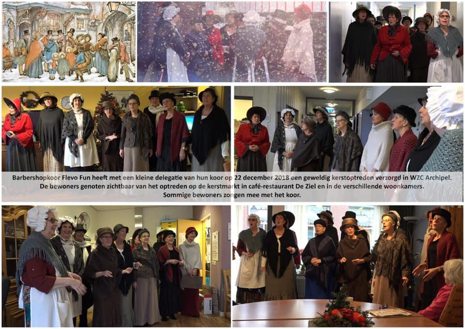 Kerstoptreden de Archipel 22 december 2018 collage